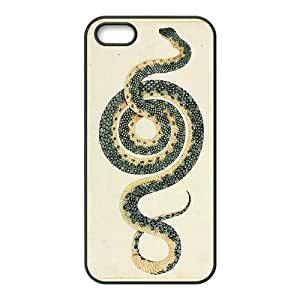 snake curled For HTC One M8 Phone Case Cover Black