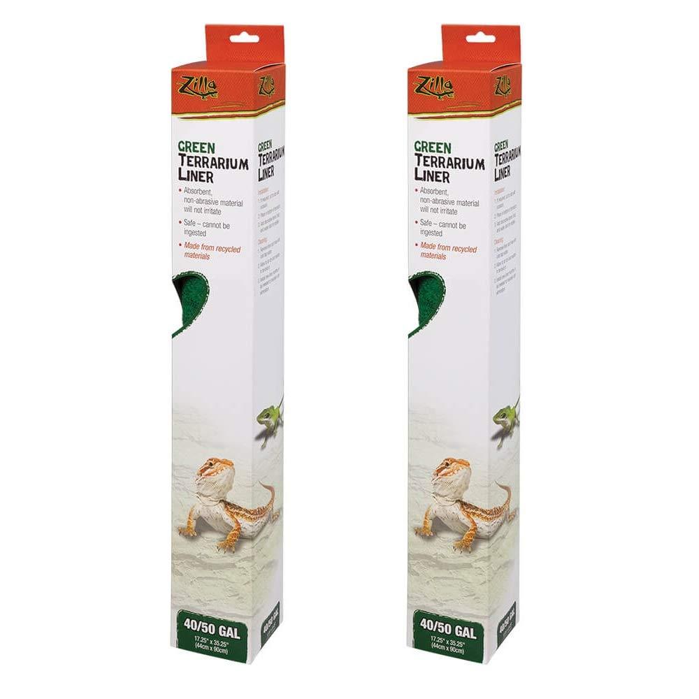 Zilla 2 Pack of Terrarium Liners, 40/50 Gallon, Green