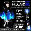 ROCKSTIX 2 HD BLUE, BRIGHT LED LIGHT UP DRUMSTICKS, with fade effect, Set your gig on fire! by ROCKSTIX