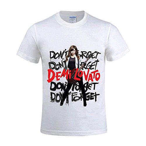 Demi Lovato Don't Forget Men T Shirts Crew Neck Custom -