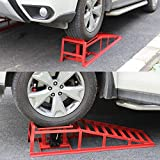 TECHTONGDA 2pcs Car Lift Service Ramps with