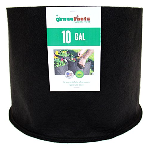 Nice (10 Pack) 10 Gallon Black Grassroots Fabric Pot - Grow Pot and Aeration Container supplier