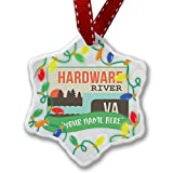 Personalized Name Christmas Ornament, USA Rivers Hardware River - Virginia NEONBLOND