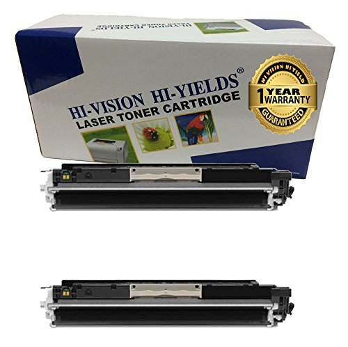 HI-VISION HI-YIELDS Compatible Toner Cartridge Replacement for Hewlett-Packard (HP) 126A CE310A (2 Black, 2-Pack)