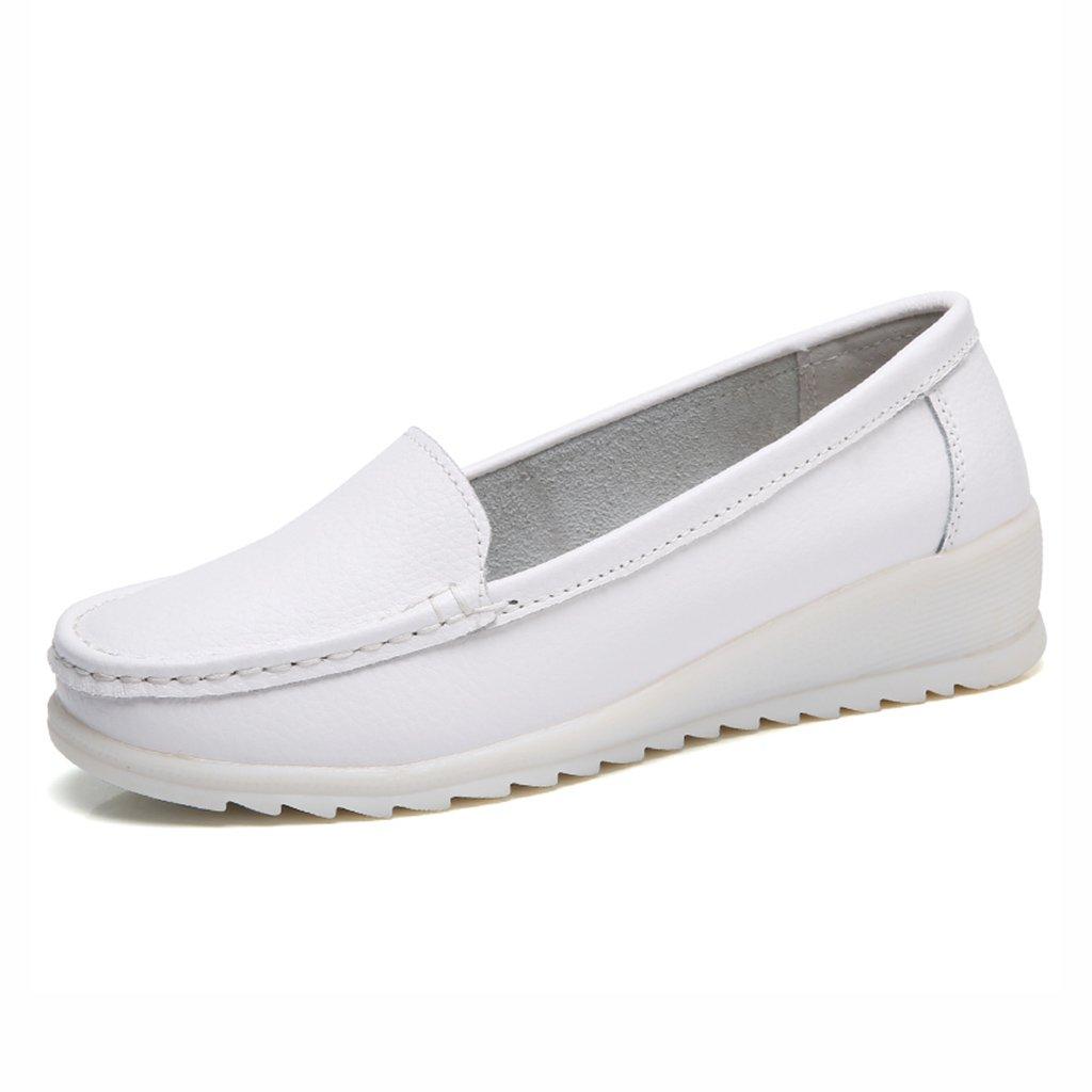HWF レディースシューズ 春の白い看護婦の病院の女性のフラットソフトボトム通気性の作業靴 ( 色 : 白 , サイズ さいず : 36 ) B07C9RNBY5 36|白