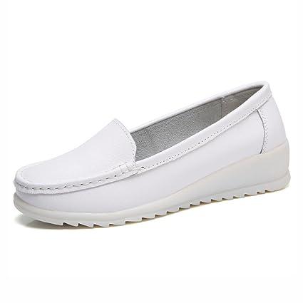 Primavera Enfermera Los Para Mujer Blanca Zapatos Calza Hwf H9WEDI2