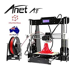 Anet® A8 3D Printer Acrylic LCD Screen Printing Size 220 x 220 x 240mm DIY High Precision Self Assembly