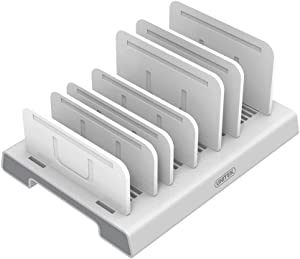 Unitek Adjustable Universal Multi Device Organizer Dock Stand Holder Compatible for iPhone, iPad, Kindle, Fire Tablet, Samsung Galaxy, Google Nexus, Pixel, All Electronic Devices-No Charging Port