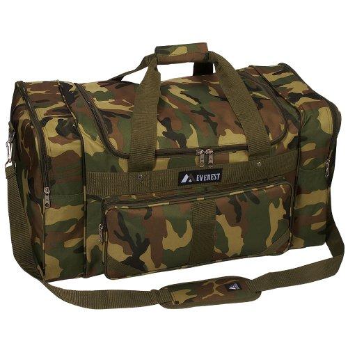 Everest Woodland Camo Duffel Bag, Camouflage, One Size -