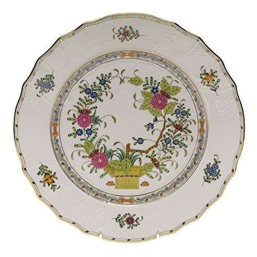 Herend Baskets - Herend Indian Basket Porcelain Dinner Plate