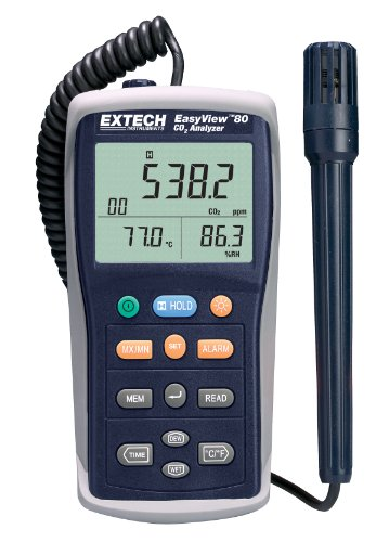 Extech EA80 Easy View Indoor Air Quality Meter/Datalogger by Extech Instruments