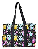 Ever Moda Owl Print Utility Tote Bag For Sale