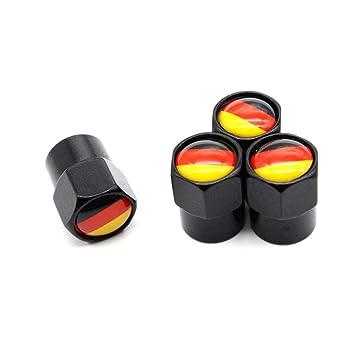 DSYCAR Set von 4 Pers/önlichkeit Reifen Ventilkappen Ventilschaftabdeckung Auto Rad Staubdicht Caps f/ür Auto Fahrrad Motorrad