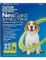 Nexgard, Flea, Tick & Worming Monthly Chew, Spectra, Dog, 7.6-15kg, 3pk
