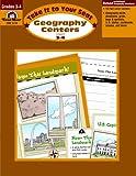Geography Centers, Grades 3-4, Evan-Moor, 155799997X