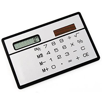 Topro Credit Card Size Compact Solar Powered Mini