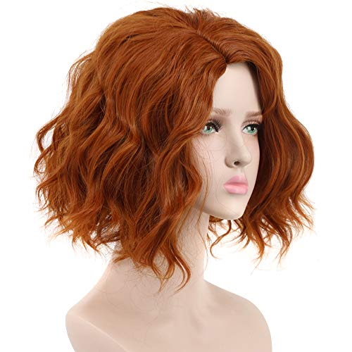 Yuehong Short Bob Wave Cosplay Wig Brown Halloween Costumes for Women