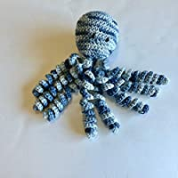 Crochet Octopus for Preemies, Crochet Octopus for Babies in Variegated Blue Color, Crochet Amigurumi