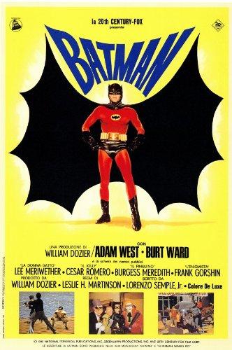 Batman POSTER Movie (1966) Italian Style B 27 x 40 Inches - 69cm x 102cm (Burt Ward)(Adam West)(Burgess Meredith)(Cesar Romero)(Frank Gorshin)(Lee Meriwether)(Alan -