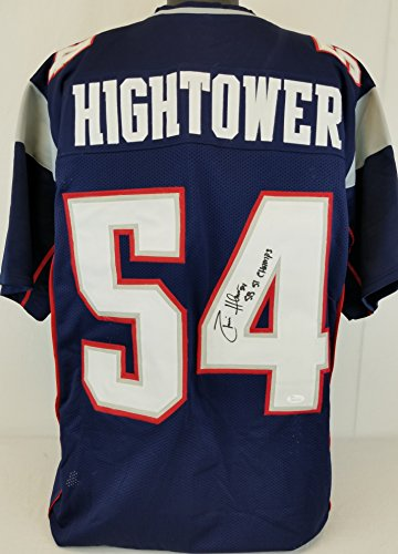 Donta Hightower  Sb 51 Champs  Patriots Signed Blue Jersey Jsa Witness Auto