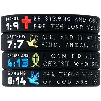 Amazon.com: (12-pack) Assorted Bible Verse Bracelets