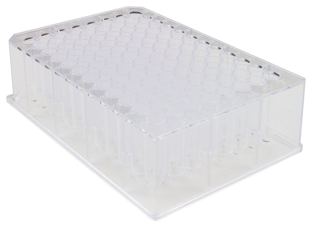 Caplugs Evergreen 222-8662-01N Sterile 96-Well Deep-Well Plates. Polystyrene, Natural, Bag pack by Caplugs
