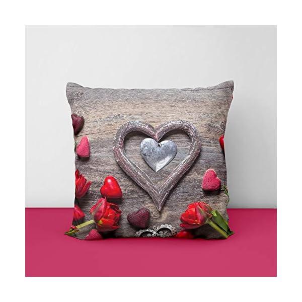 51SrF5q5quL valantine Heart Wood Square Design Printed Cushion Cover