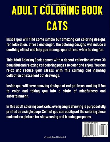 Amazon Adult Coloring Book Cats Amazing Creative Calm For Cat Lovers