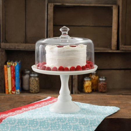 The Pioneer Woman Timeless Beauty 10 Milk White Glass Cake Stand ()