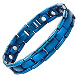Best Willis Judd Jewelry Boxes - Willis Judd Blue Titanium Magnetic Bracelet with Link Review