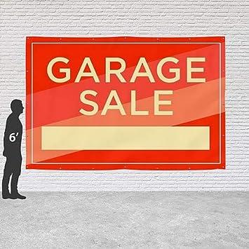 Garage Sale CGSignLab 9x6 Modern Diagonal Heavy-Duty Outdoor Vinyl Banner