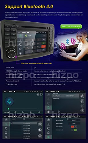 hizpo Android 7 1 Car Audio Stereo for Mercedes Benz ML