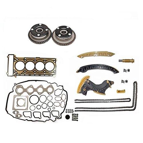 Timing Chain Kit & Cylinder Head Gasket Set for Mercedes M271 Camshaft Adjuster C200 C230 E200 SLK200 1.8L Supercharged