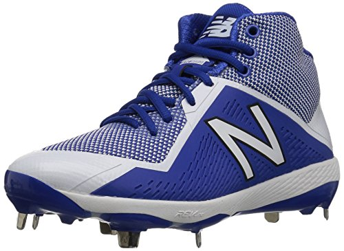 New Balance Hombres M4040v4 Metal Baseball Shoe Royal / Blanco