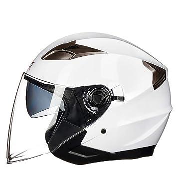 Zhanghaidong Doble Visor Solar Cara Completa Moto Casco Blanco Moto Casco Modular Racing Moto Casco con