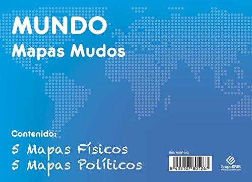 GRUPO ERIK EDITORES, S.L. - Pack mapas mudos es Mundo 5+5 Grupo ...