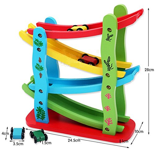 Small Toys For Boys : Toy lewo wooden big ramp race boy car toddlers toys games