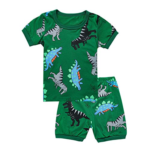 (Tkala Fashion Boys Dinosaur Pajamas Children Clothes Set 100% Cotton Little Kids Pjs Sleepwear (5,)