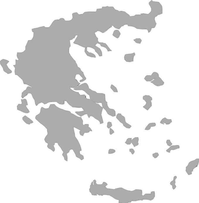 2x Auto Aufkleber Car Sticker Hellas Griechenland Greece Grece Grecia Länderumriss Ca 11x11 Cm Silber Auto