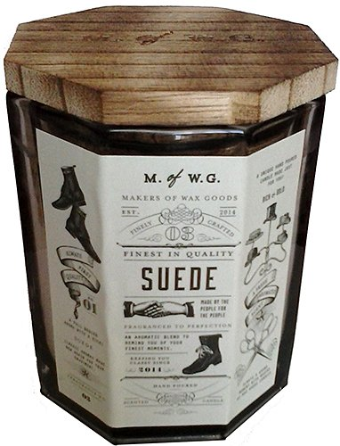 - Makers of Wax Goods Rich & Bold #3 Suede Wood-Wick 11.4 Oz. Candle In Glass