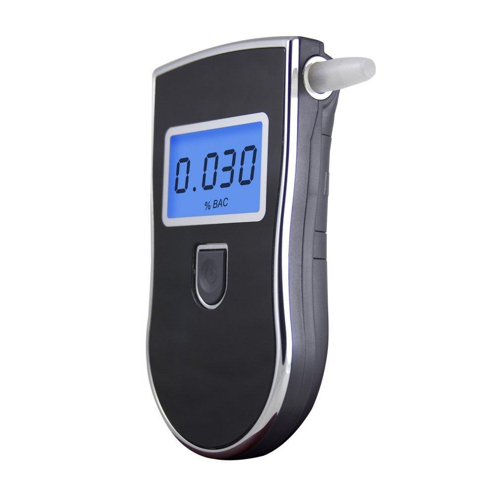 GuDoQi Digitale atem alkohol tester prä zisions detektor mobile drogentest mit LCD Display (5 Mundstü cke in hinter-Deckel) QBY .