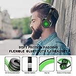 Cuffie-Bluetooth-50-Senza-Fili-Sunvito-Pieghevole-Auricolari-con-Mic-Lettore-MP3-Radio-FM-Wireless-e-Cuffie-Cablate-Cuffie-Over-Ear-NeroVerde