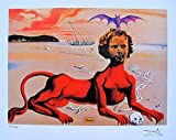 Artwork by Salvador Dali Shirley Temple Facsimile Signed & Numbered Giclee Print. After the Original Painting or Drawing. Paper 10.5 Inches X 13 Inches