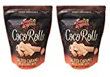 Sun Tropics Non-GMO Rolled Coconut Wafer Rolls 4oz, 2 Pack (Salted Caramel)