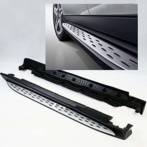 One Pair of Running Boards   Side Steps Fit for Mercedes-Benz 2016-2018 GLE-Class - OE Style + Aircraft Grade Aluminum (Aluminum Polished Silver)