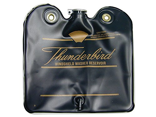 New 1966 Ford Thunderbird Windshield Washer Bag / Fluid Reservoir Black with Gold Script (C6SZ-17618US) by Auto Krafters