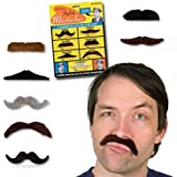 Archie McPhee Stylish Mustaches, 7 Pack