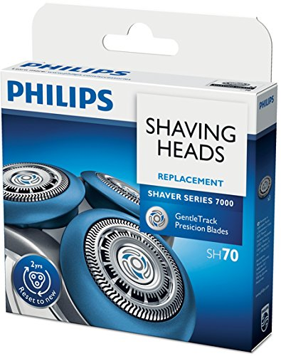 Philips Series 7000 Replacement Shaver Head SH70/50 7000 Series 3 x Rotary Cutting Head (Replacement Rotary Heads Cutting)