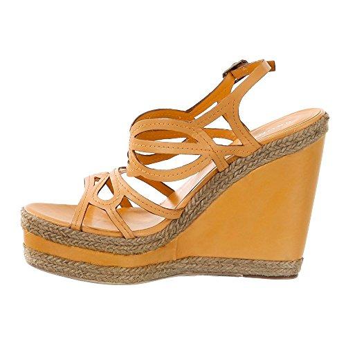 Bruno PREMI Mujer Plateau de sandaletten Poncho Amarillo Tacón Altura: 13cm Amarillo - amarillo