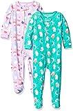 Carter's Baby Girls' Toddler 2-Pack Fleece Pajamas, Cupcakes/Owl, 2T